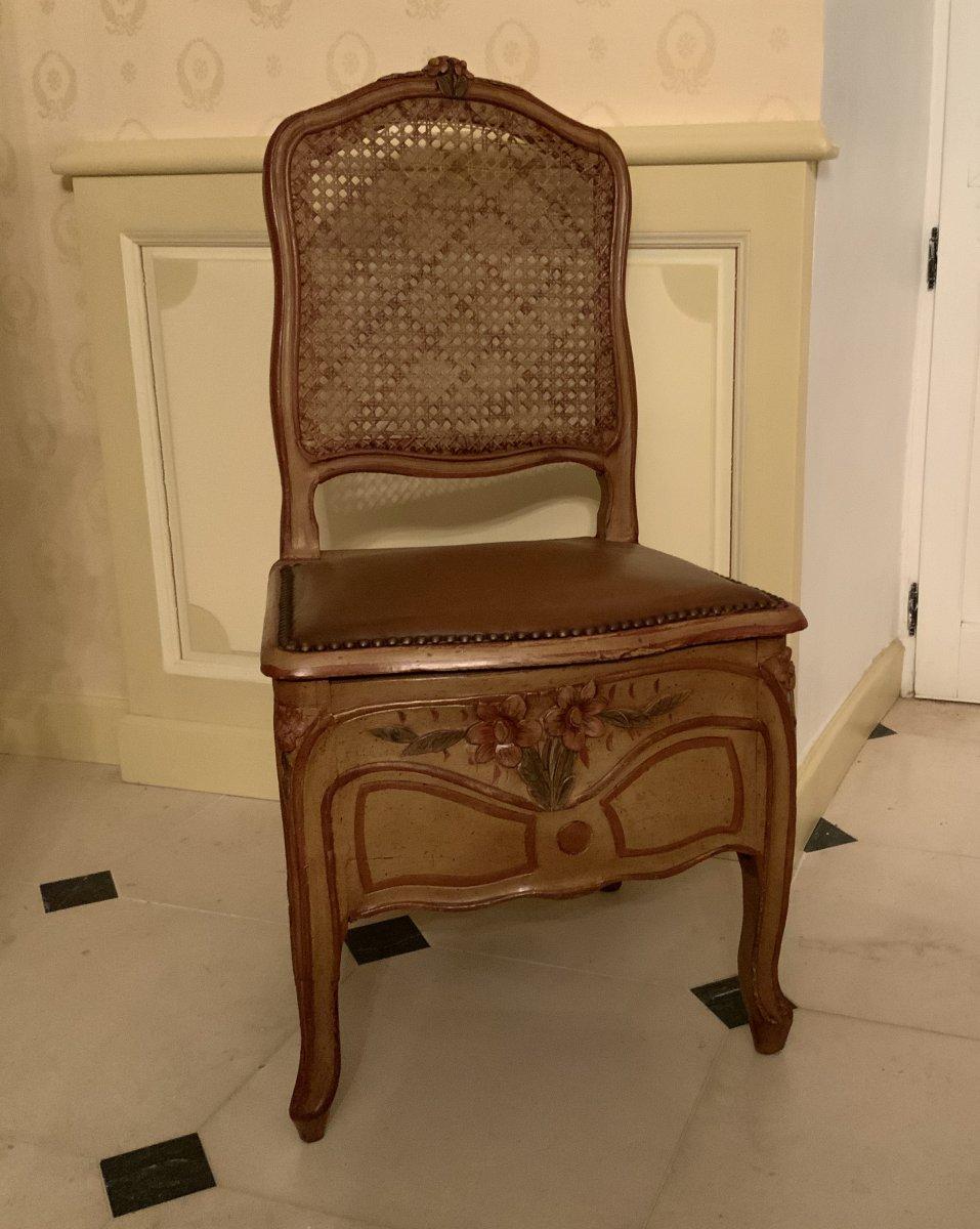 Chaise  De  Commodité  . Époque  Régence