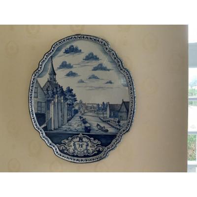 Plaque En Faïence De Delft XVIIIe