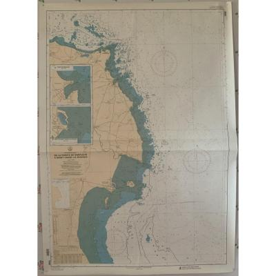 Marine Chart. North Coast Of France From Barfleur To St Vaast La Hougue