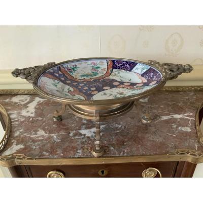 Imari Porcelain Cup, Mounted In Bronze