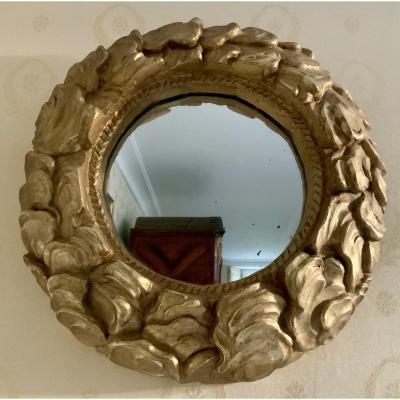 Miroir Soleil, Bois Doré,  Art  Nouveau