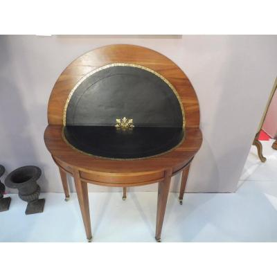 Game Table, Half Moon Cherry, Directoire Period
