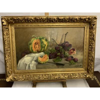 Louise  Gobert   1903-1986   Nature Morte  Aux Fruits