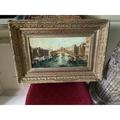 Venice. The Rialto Bridge By Lucia Ponga (1887-1968)