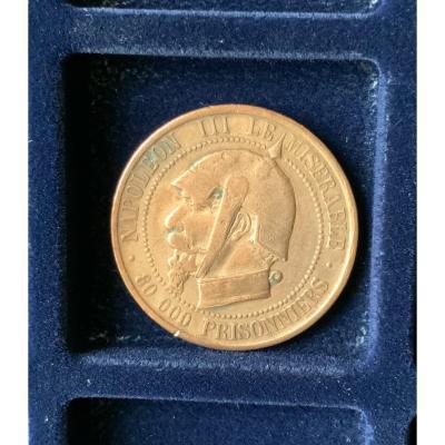 Médaille Satirique,  Napoléon III - 1870