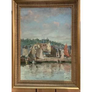 Bateaux De Pêche à  Honfleur Dumouchel  1904