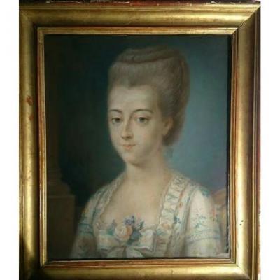 Portrait Of A Lady, Pastel, 18 Century