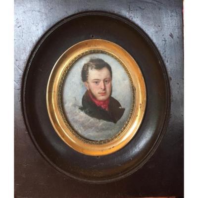 Portrait De Homme d'époque Empire, Miniature