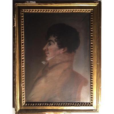 Portrait De Jeun Homme d'Epoque Empire