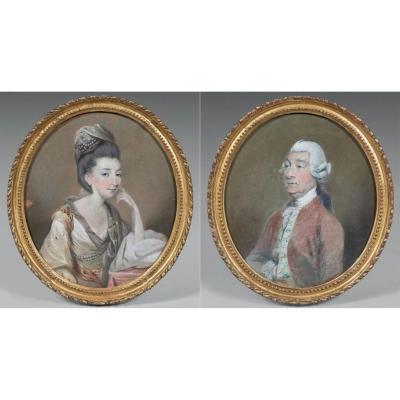 Lady Et Sir Robert Carr Par Daniel Gardner (1750 - 1805)