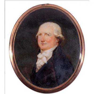 Mary Byrne (1776 - 1846) Portrait En Miniature De James Boswell