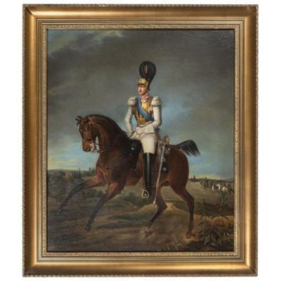 Portrait équestre Du Tsar Nicolas I De Russie