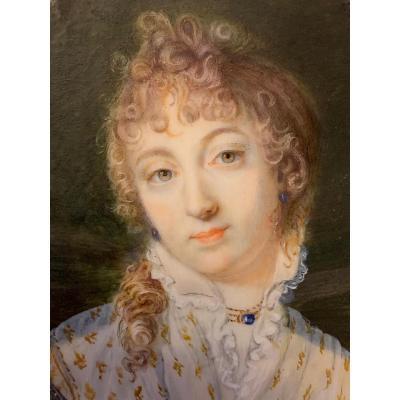 Miniature : Portrait De Marie-Thérèse Charlotte De France, Duchesse d'Angoulême