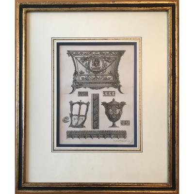 """Four Engravings Of The Series """"various Way Of Adornare I Cammini ..."""""""