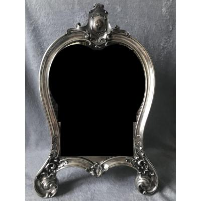Carl Tegelsten, Important Table Mirror Silver, Russian Work Nineteenth Century