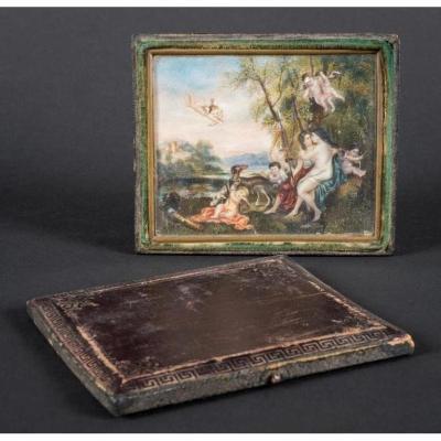 Miniature : Jupiter Et Callisto, d'Après Le Tableau De Philadelphia Museum Of Art