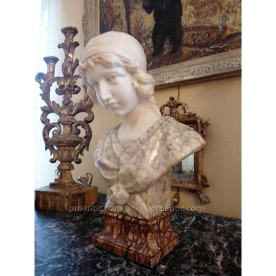 Bust Of Young Woman Marble XIX 3 Colors