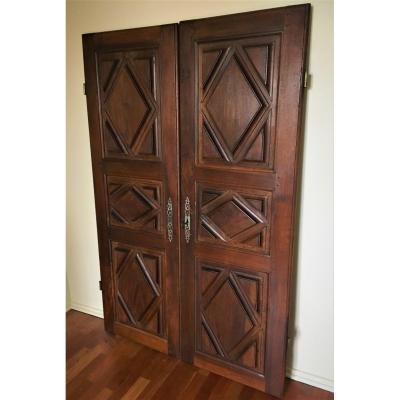 Pair Of Walnut Doors 18th