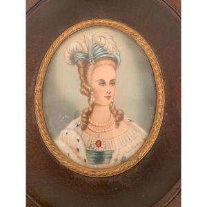 Miniature Sur Ivoire De Marie Antoinette
