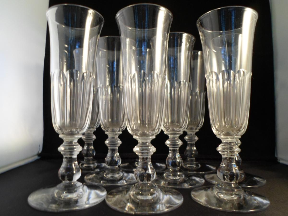9 Flûtes Cristal XIXme