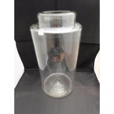 petit pot verre translucide    fin XVIIIème