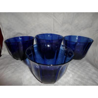 Series Of 4 Cups Colbalt Nineteenth