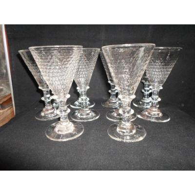 10 Crystal Glasses Nineteenth