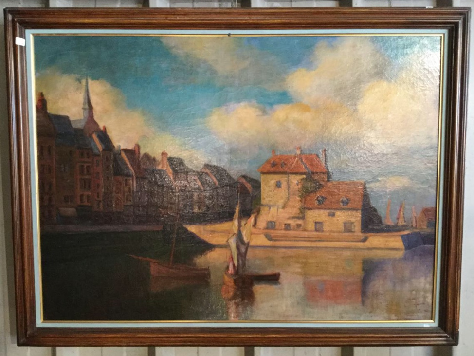 Grand Old Table, View Of Port Of Honfleur, Normandy