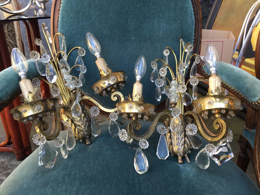 Pair Of Lights In 1950-1960 Pampilles House Rings-photo-2