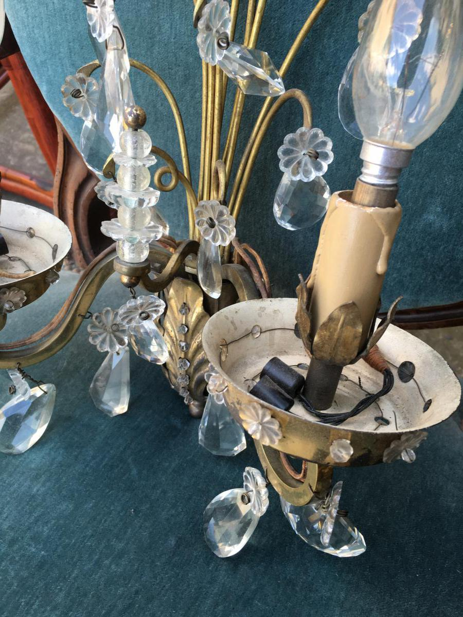 Pair Of Lights In 1950-1960 Pampilles House Rings-photo-4
