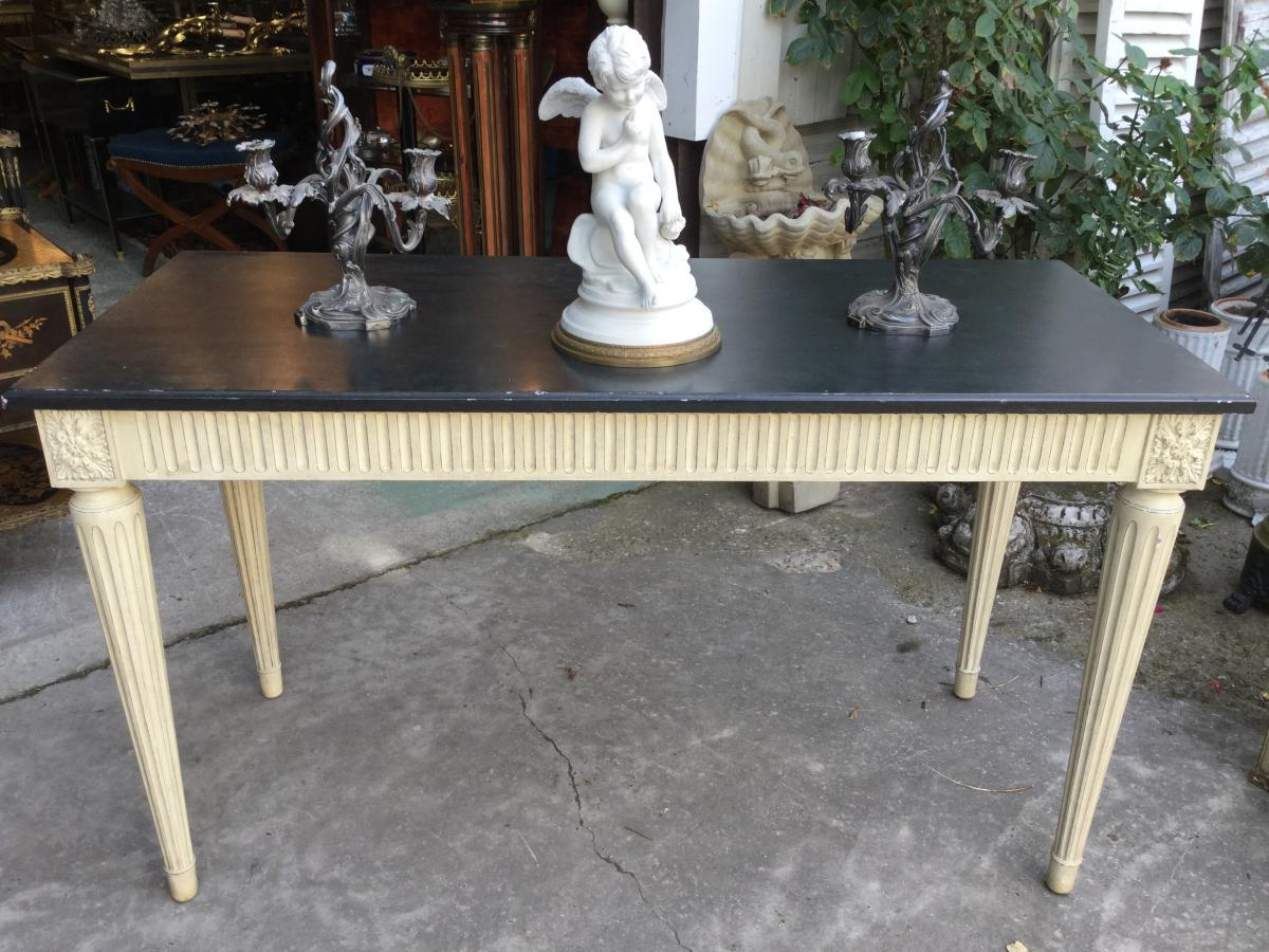 Large Lacquered Louis XVI Style Console