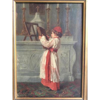 """""""l'enfant  De Cœur"""" Signé Joseph Athanase Aufray (1836-1885)"""
