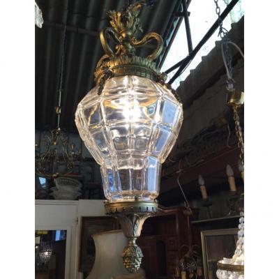 Importante Lanterne De Hall De Style Louis XVI, époque Napoléon III