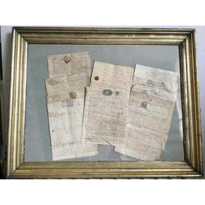 French Notarial Acts XVIIIth, Ancient Documents