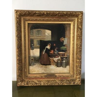 Victor Gilbert (1847-1933) Oil On Canvas Nineteenth