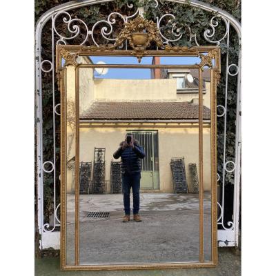 Grand Miroir XIXème De Style Louis XVI, A Parecloses
