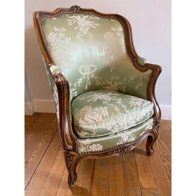 Louis XV Style Upholstered Armchair / Bergère For Child