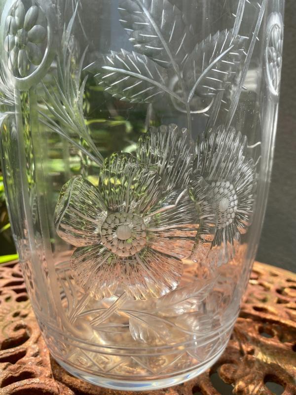 Vase En Cristal De Baccarat Gravé, époque 1900-photo-4
