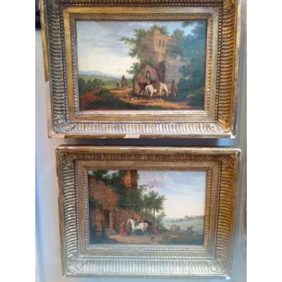 2 Paintings Attributed To Swebach Dit Fontaine