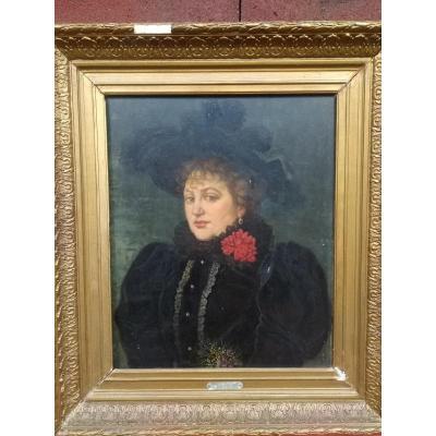 Portrait De Femme De Manuel Amell Y Jorda