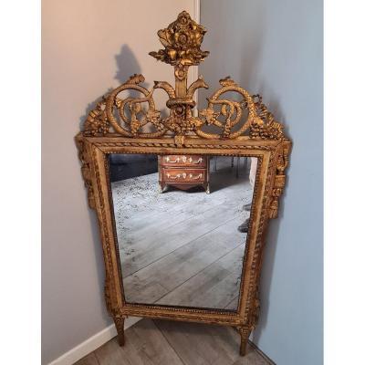 Mirror Golden Wood XVIII Eme