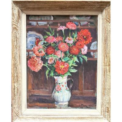 Bouquet De Fleurs de L.prieur 1950