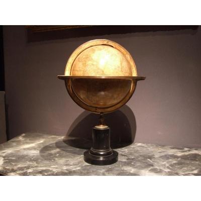 Globe Terrestre Signé Pierre Lapie - Français Circa 1860