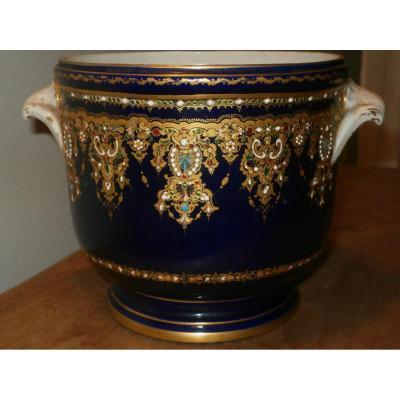 Rafraîchissoir En Porcelaine XIXe