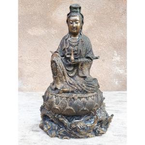 Statue de bouddha en bronze, Guanyin