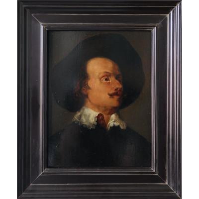 Portrait d'Homme Dans Le Goût Du 17e