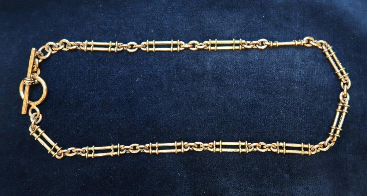 Pretty Edwardian Gold Watch Chain