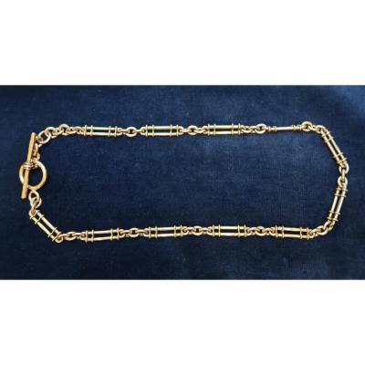 Chaîne de montre en or d'époque edwardienne
