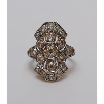 Edwardian White Gold And Diamonds Ring