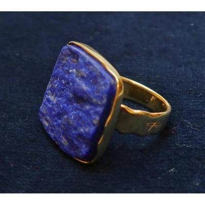 Georges Cuyvers , Bague Lapis Lazuli et or
